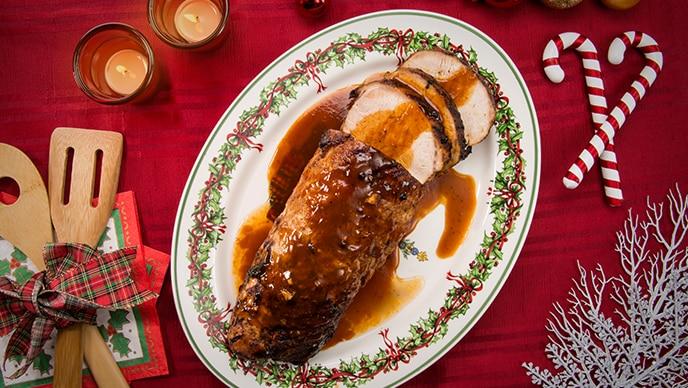 Lomo de Cerdo Navideño con Salsa de Tomate Fruco
