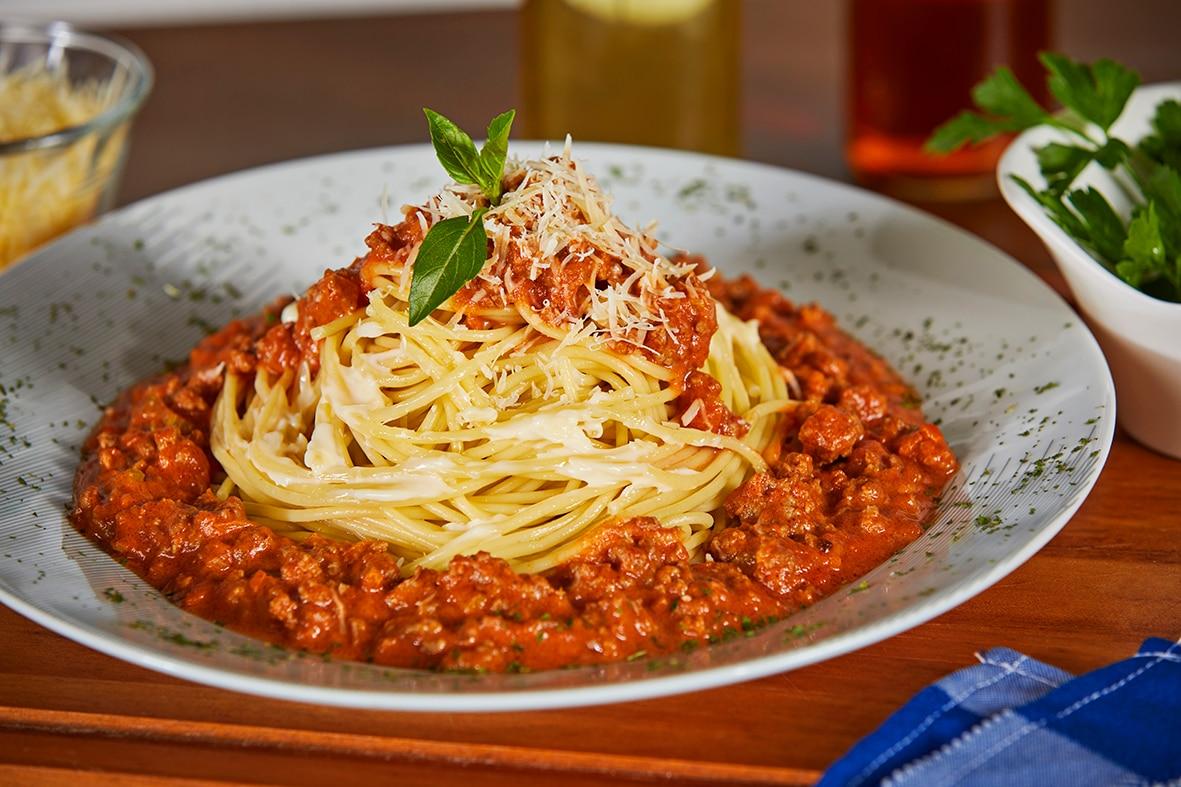 Espagueti a la Boloñesa Cremosa