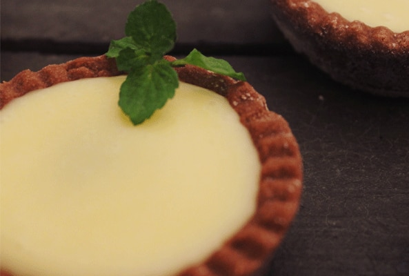 Tarteleta de menta y chocolate