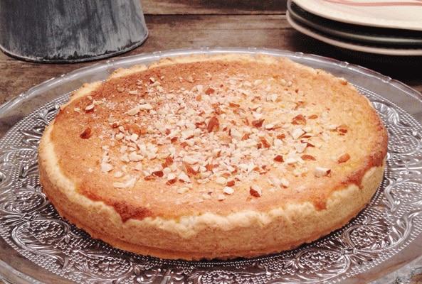 Torta de crema de coco