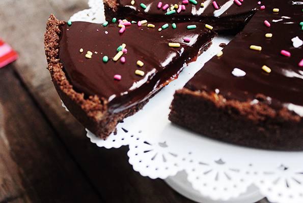 Torta de chocolate y dulce de leche