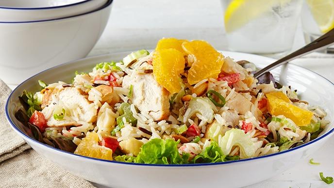 Chicken and Tomato Rice Salad