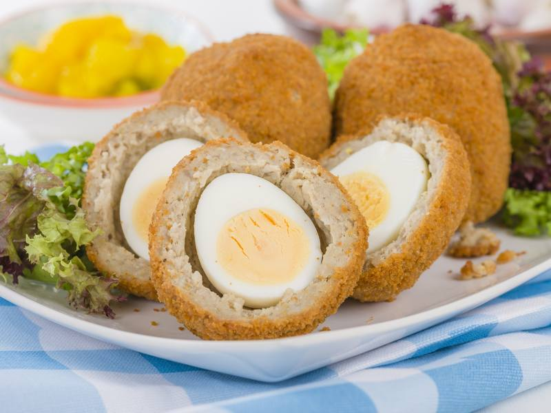 Easter Fried Sausage and Egg