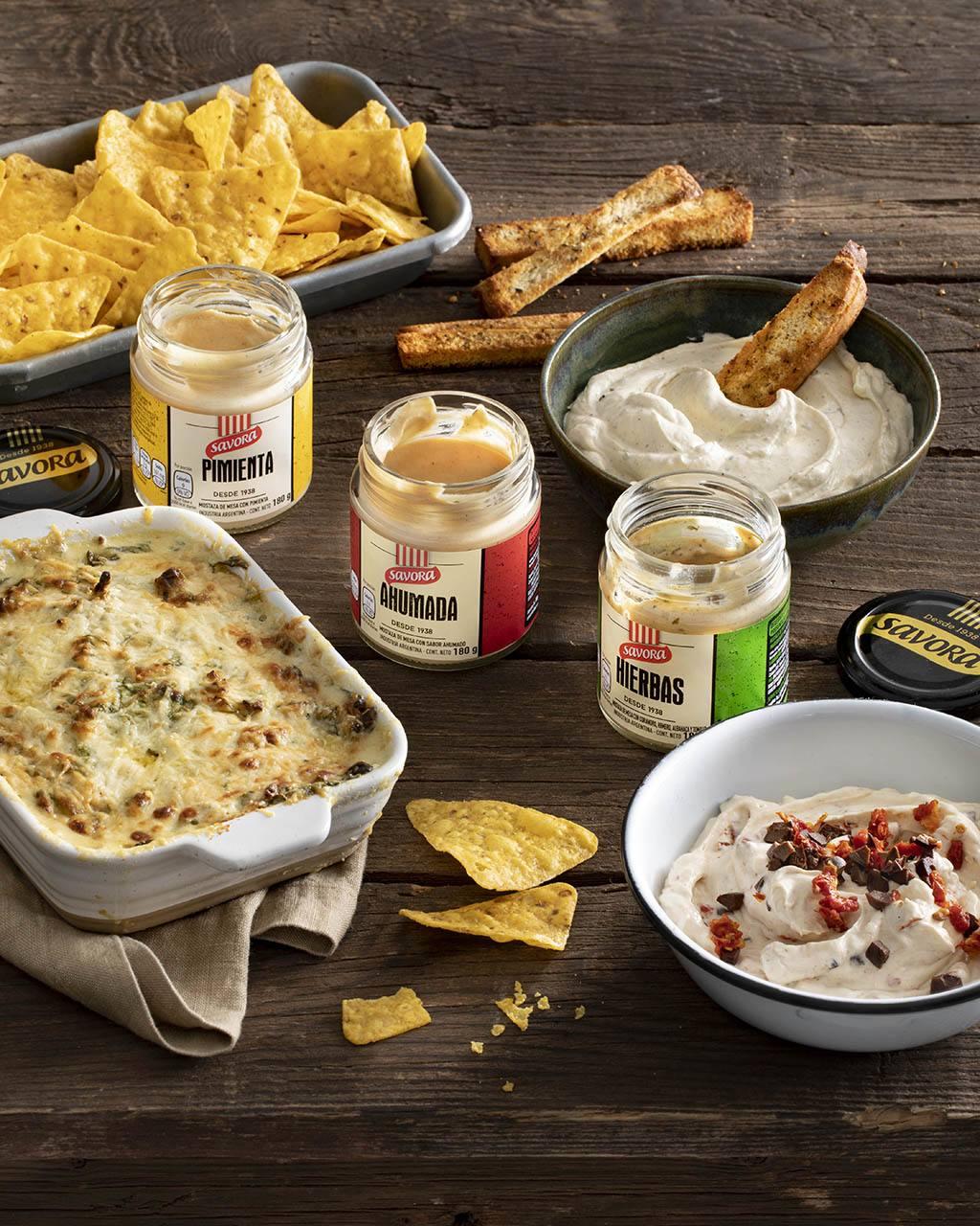 Espinacas con queso crema y Savora Pimienta.