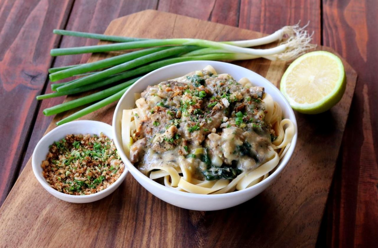 Creamy Spinach and Pilchard Pasta