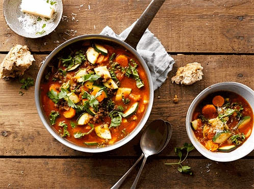 Italian Lentil and Spinach Soup