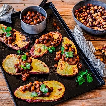 Spicy Bambara Groundnuts on Sweet Potato 'Toast'
