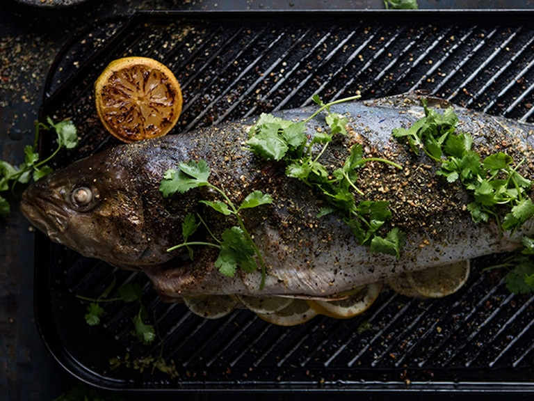 Whole Roasted Yellow Tail