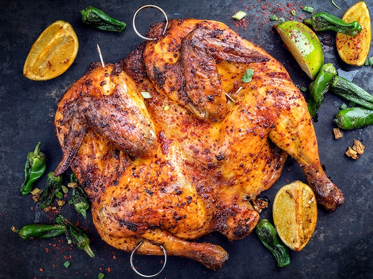 Butterflied Portuguese Chicken with Lemon Mayonnaise
