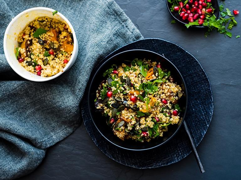 Chilli Roasted Butternut and Quinoa Salad