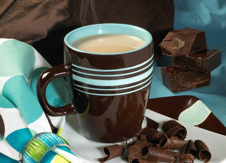 Té de chocolate caliente y aromático