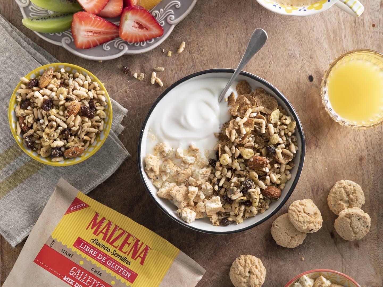 Tazón de granola y yogur