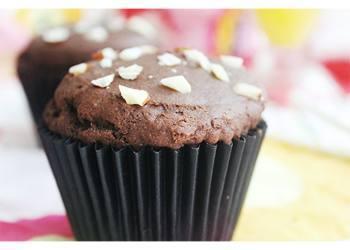 Muffins de chocolate con almendras