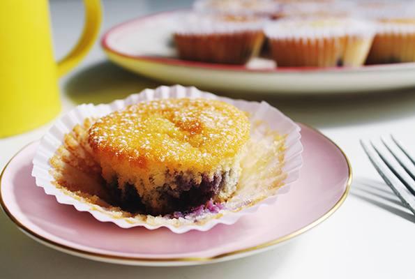 Muffins de naranjas con arándanos
