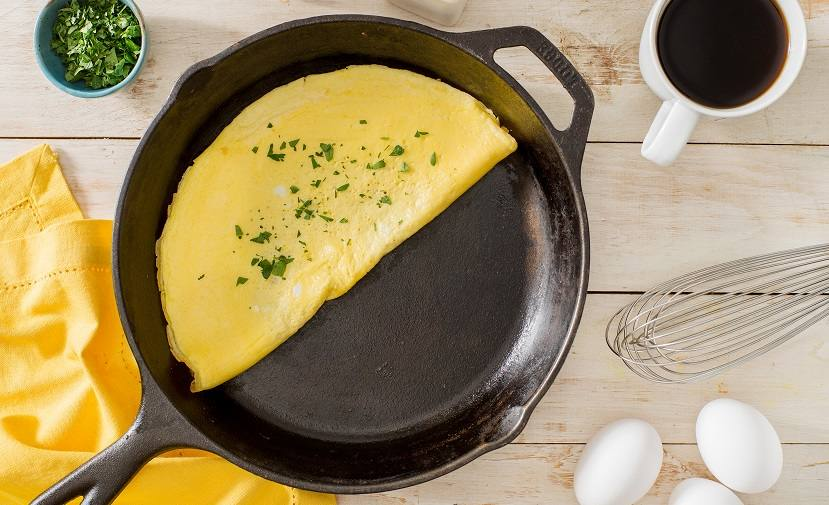 Omelette a la mostaza