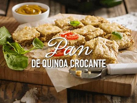 Pan de quinoa crocante