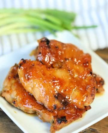 Pollo agridulce con mermelada y mostaza