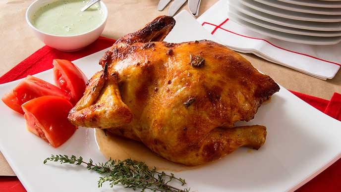 Pollo al horno clásico