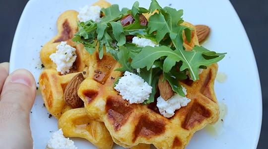 Waffles de papa y zapallo