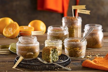 Budín de naranja y semillas de amapola
