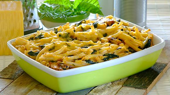 Spicy Pilchard and Spinach Bake