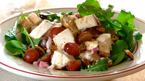 Tangy Chicken, Grape and Pecan Salad