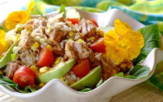 Summer Rice Salad with Tuna