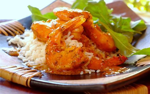 Peri Peri Prawns with Rice