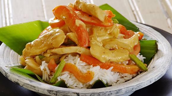 Honey Satay Chicken Stir Fry