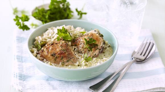 Herbed Chicken and Rice Bake