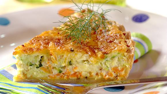 Carrot and Baby Marrow Quiche