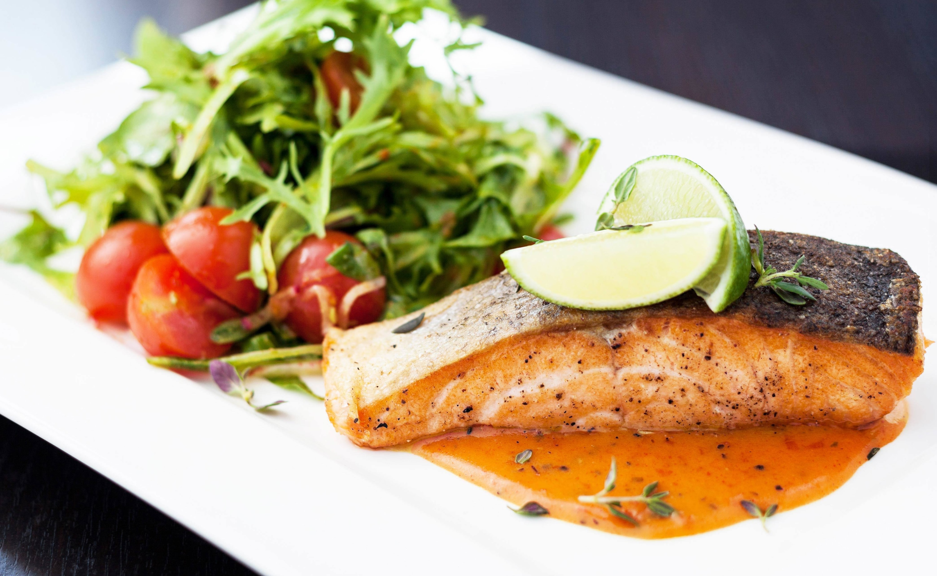 Roasted Salmon Fillet with Tomato Sauce