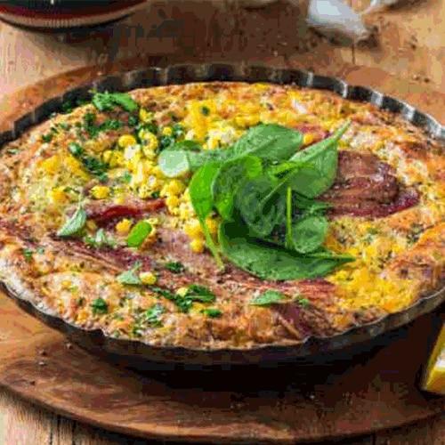 Cheesy Bacon and Corn Tart
