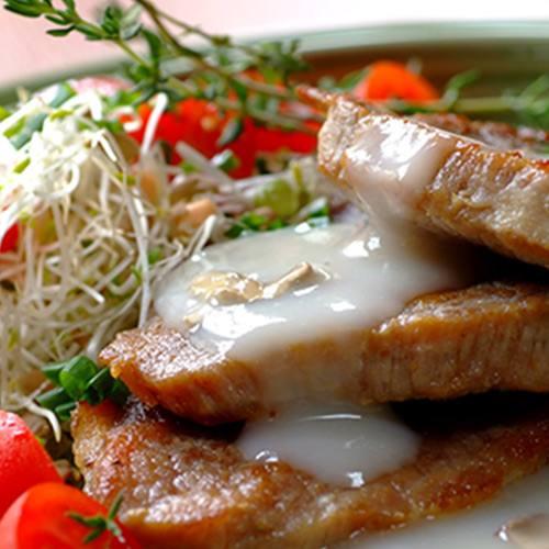 Minute Steaks with Creamy Mushroom Sauce