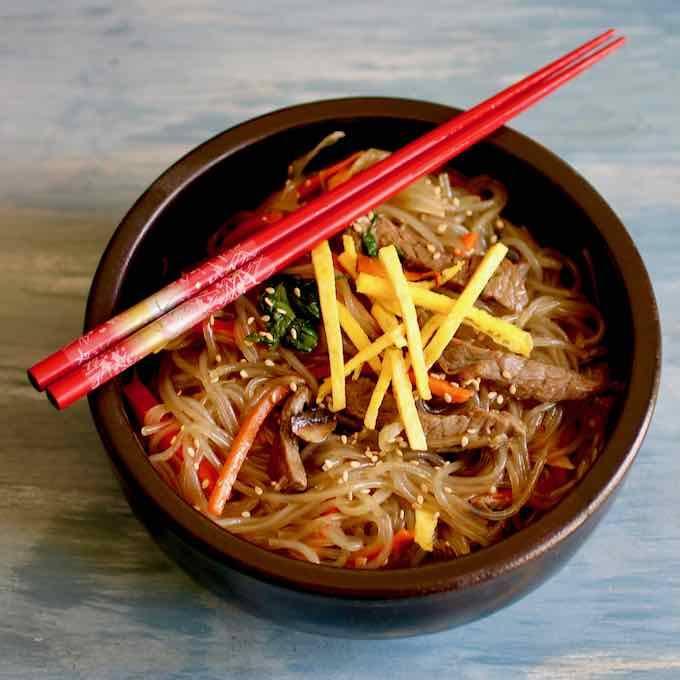 Receta de Japchae, plato típico coreano