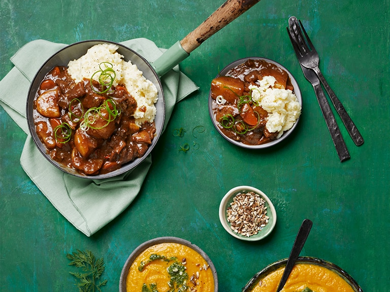 Spicy Asian Tripe Stew with Pap