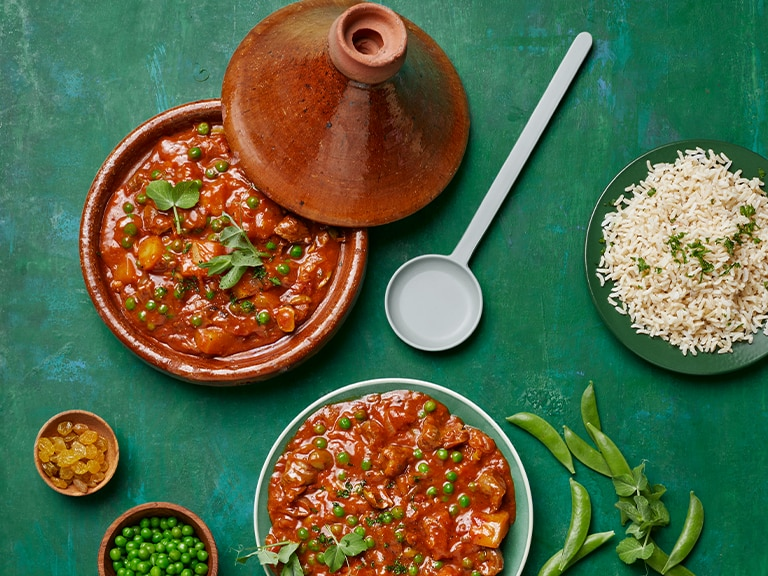 Moroccan Chicken Giblet Tagine with Brown Rice