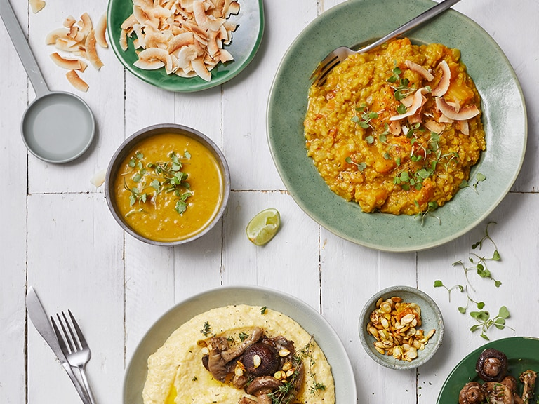 Spicy Red Lentil and Pumpkin Dhal