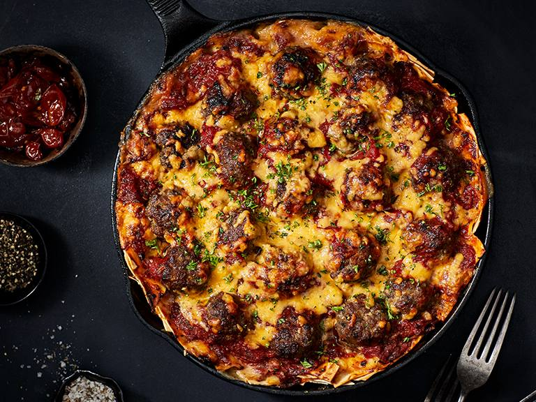 Baby Meatball Lasagne