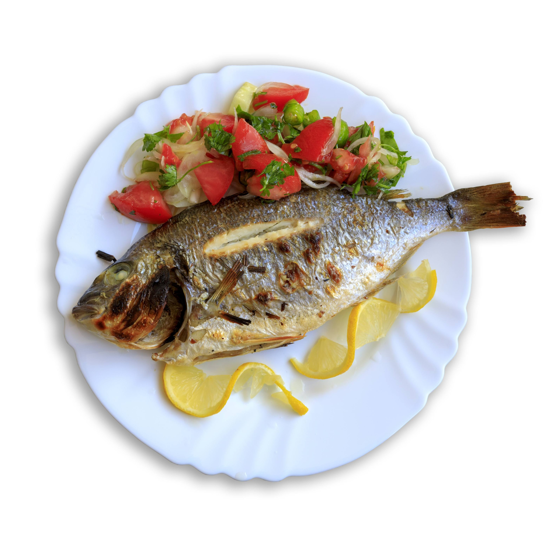 Pescado con Salteadito Mediterraneo