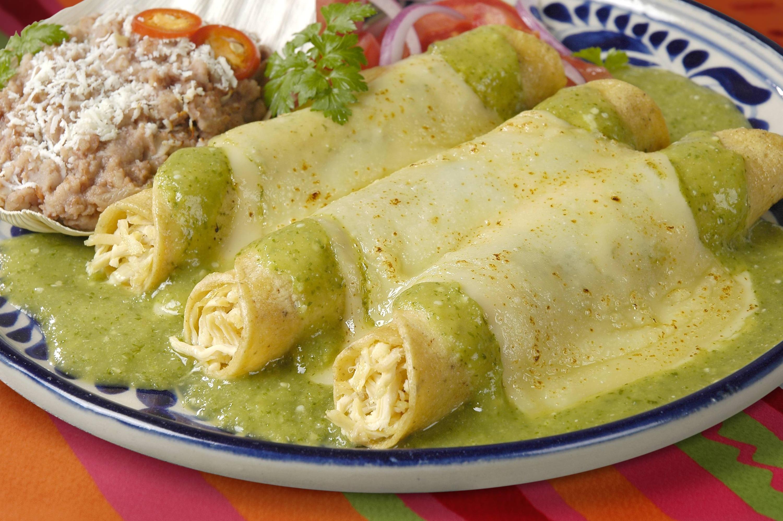 Tacos son salsa verde