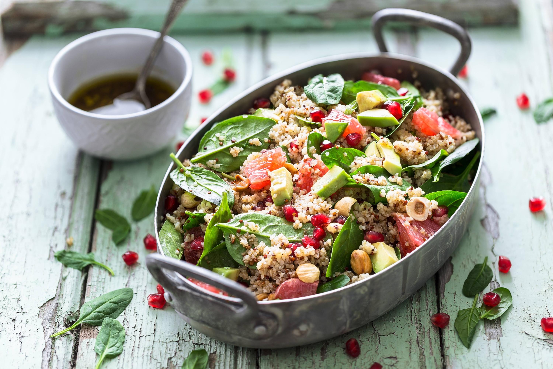 Ensalada de Quinoa y Arándanos