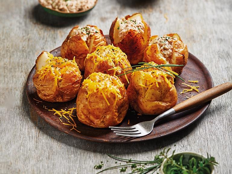 Cheesy Tuna-Stuffed Potatoes