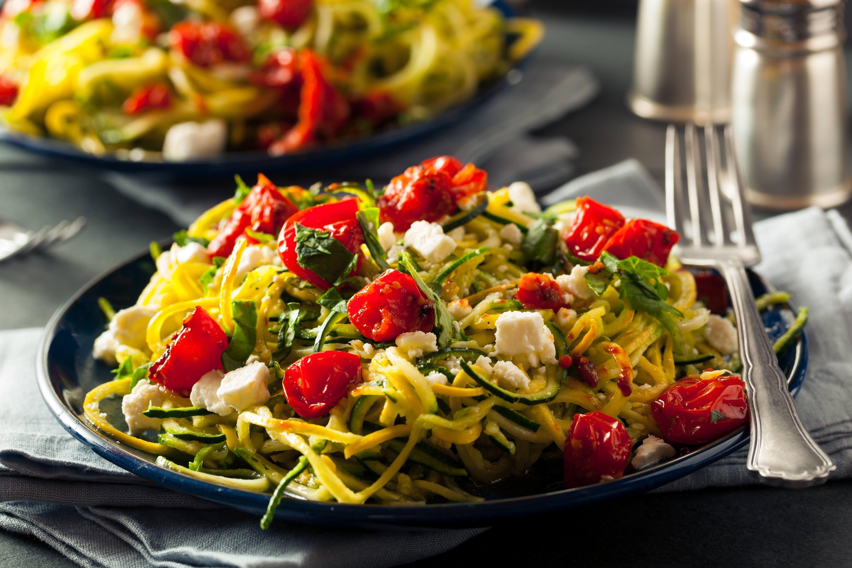 Pasta con Verduras y Salsa de Tomate