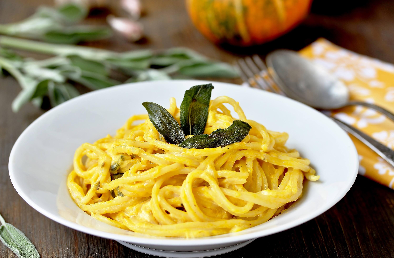 Espaguetis con Salsa de Calabaza