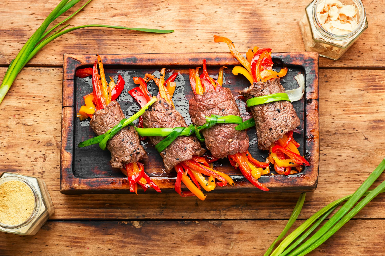 Rollitos de Carne con Verduras