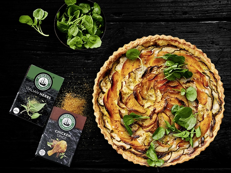 Vegetable and Herb Spiral Tart