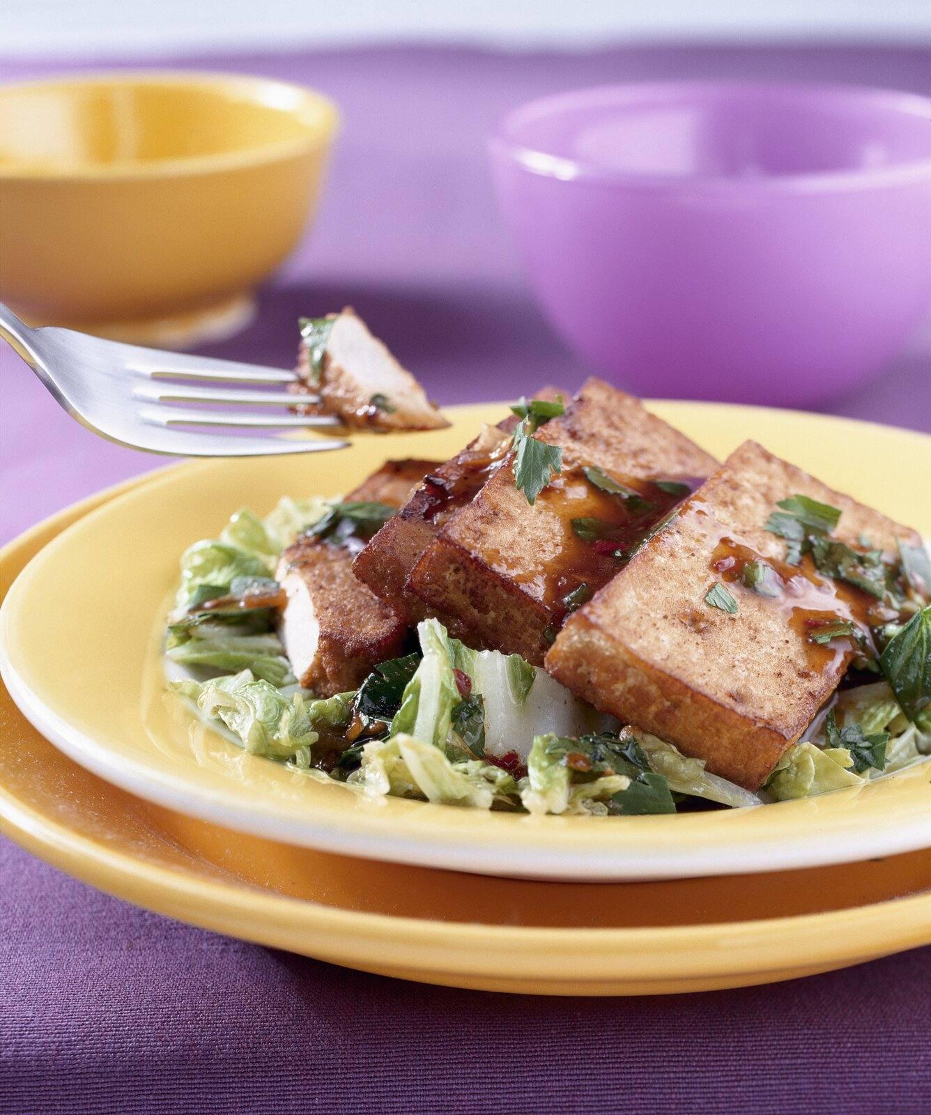 Tofu con verduras chinas