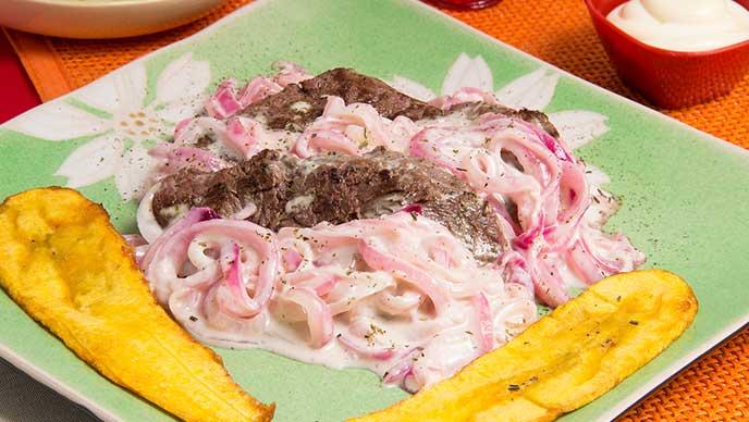 Bistec de Lomo con Mayonesa