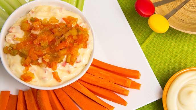 Dip de Pimentón Caramelizado con Mayodulce Fruco